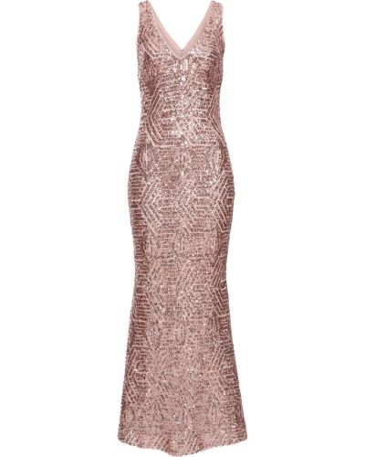 Розовое вечернее платье с пайетками Bonprix
