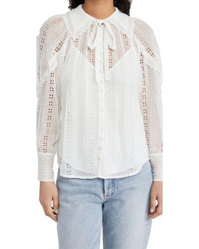 Шелковая блузка с длинными рукавами на кнопках Rebecca Taylor