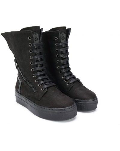 Ботинки черные на молнии Bruno Bordese Next Generation