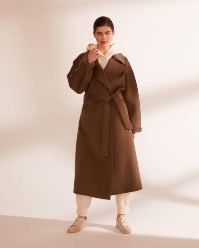 Шерстяное пальто - коричневое 12storeez