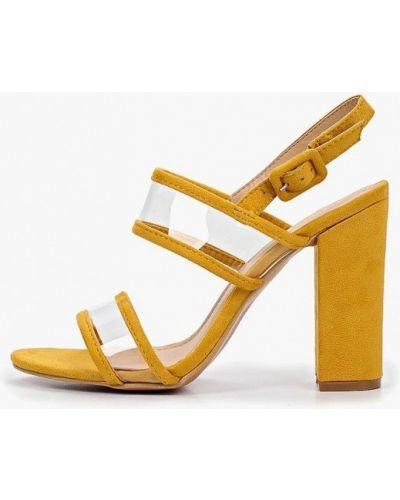 Босоножки желтый на каблуке Girlhood