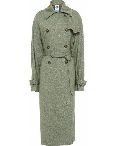 Зеленое пальто двубортное с карманами M Missoni
