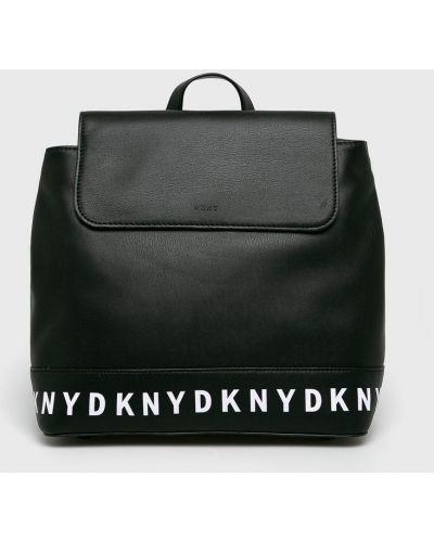 Черный кожаный рюкзак Dkny