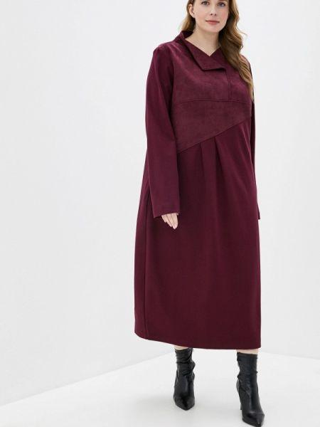 Бордовое повседневное платье Berkline