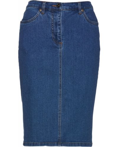 Джинсовая юбка на пуговицах Bonprix