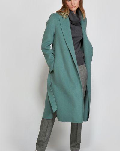 Шерстяное пальто - зеленое Vassa&co