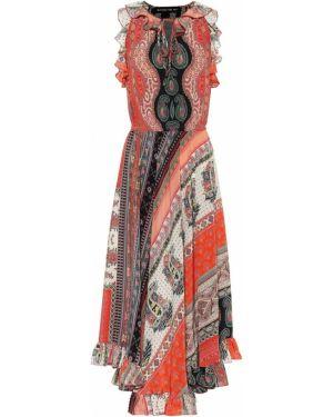 Платье миди шелковое с принтом Etro