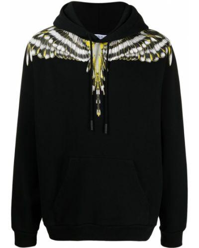 Czarna bluza długa z kapturem bawełniana Marcelo Burlon County Of Milan