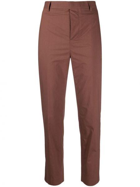 Brązowe spodnie z paskiem bawełniane Rick Owens