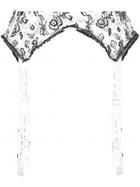 Podwiązka z paskiem - biała Fleur Du Mal