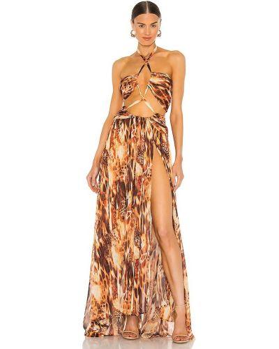 Klasyczna pomarańczowa sukienka z jedwabiu Bronx And Banco