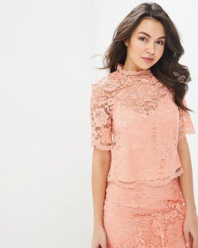 Блузка с коротким рукавом коралловый весенний Warehouse