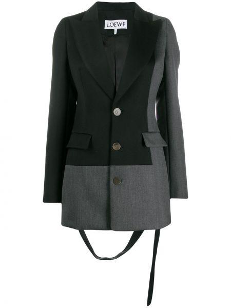 Черный пиджак с карманами Loewe