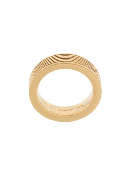 Prążkowany złoty pierścionek pozłacany Isabel Lennse