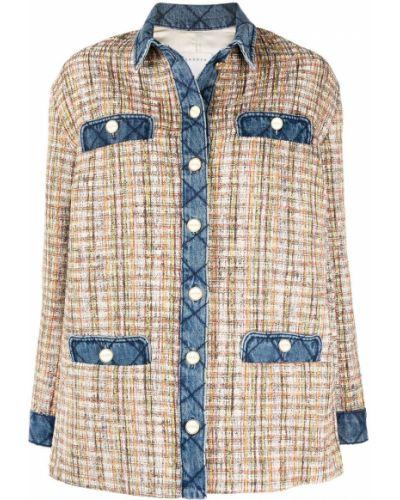 Хлопковая классическая рубашка с воротником на пуговицах Sandro Paris