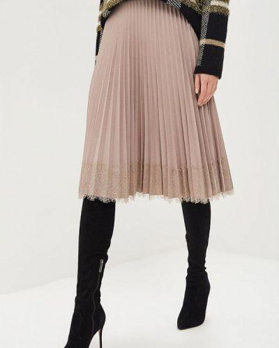 Плиссированная юбка бежевый Lusio