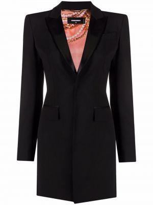 Черное платье на пуговицах Dsquared2