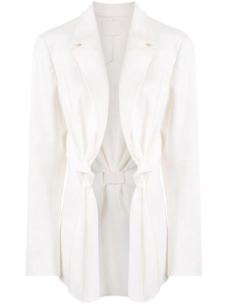 Удлиненный пиджак айвори Dion Lee