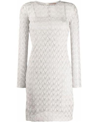 Платье серое с вырезом Missoni