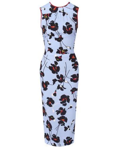Облегающее платье миди - голубое No. 21