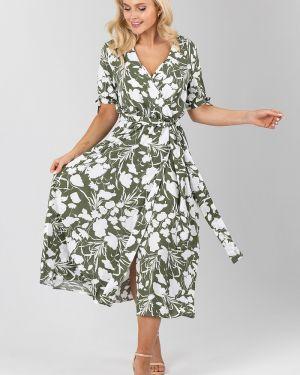 Летнее платье мини с запахом Liza Fashion