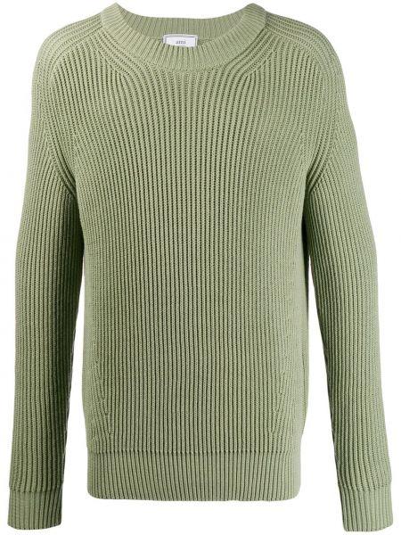 Вязаный свитер - зеленый Ami Paris
