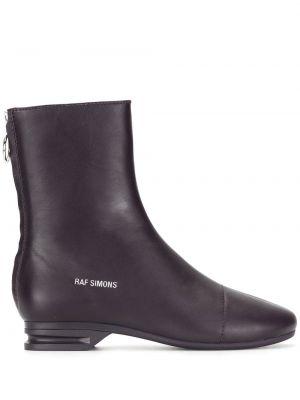Кожаные ботинки на каблуке на молнии Raf Simons