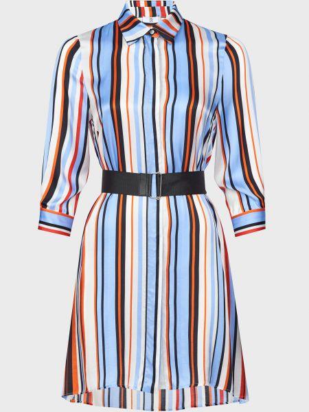 Платье на пуговицах из вискозы с поясом Sfizio