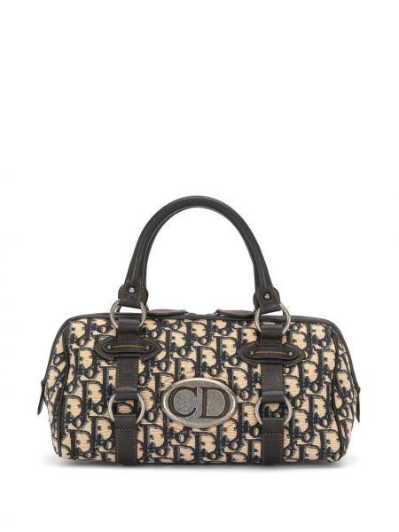 Кожаная сумка-тоут винтажная на молнии Christian Dior
