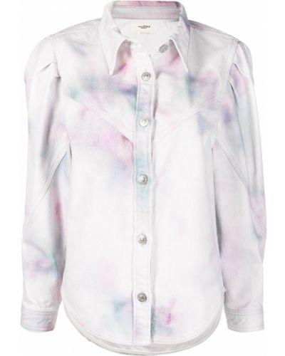 Хлопковая розовая джинсовая куртка с воротником Isabel Marant étoile