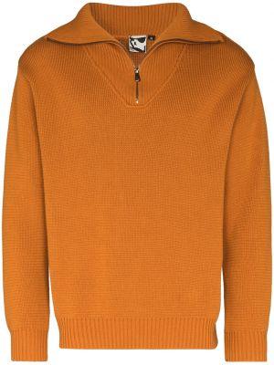 Ватный хлопковый оранжевый свитер Gr10k