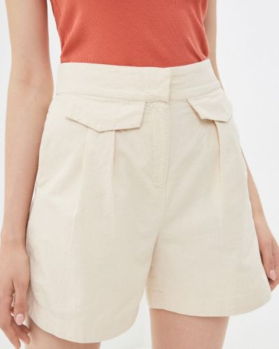 Бежевые шорты летние Selected Femme