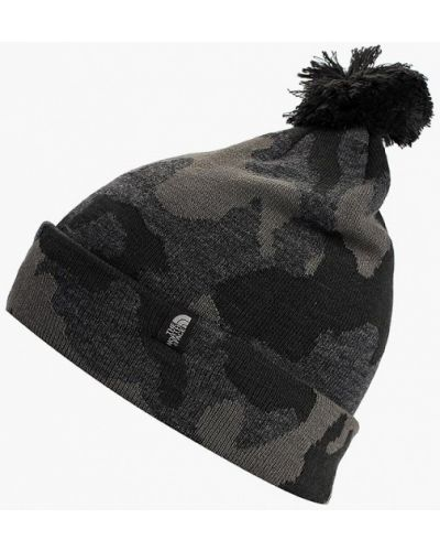 Серая шапка осенняя The North Face