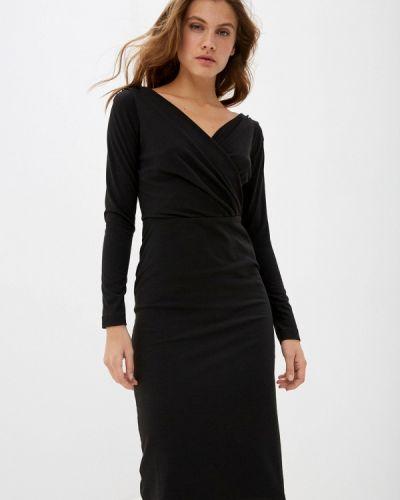 Черное платье с запахом Арт-Деко