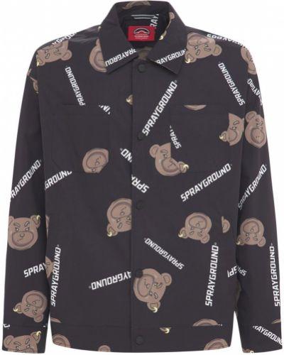 Куртка с медведем - черная Sprayground