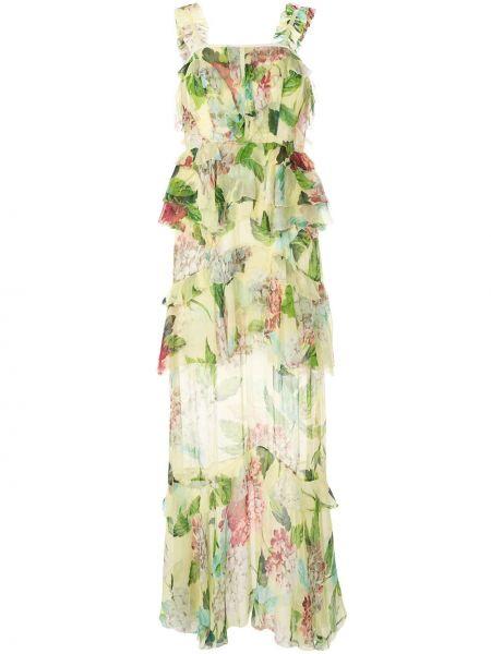 Платье с цветочным принтом с рукавами Alice Mccall