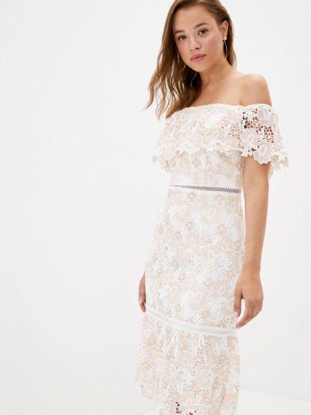 Розовое платье с открытыми плечами Chi Chi London