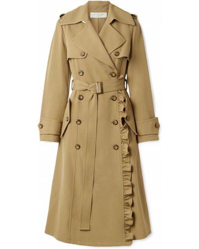 Желтое шерстяное пальто двубортное Michael Kors Collection