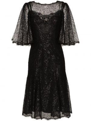 Платье миди с открытой спиной с драпировкой Dolce & Gabbana