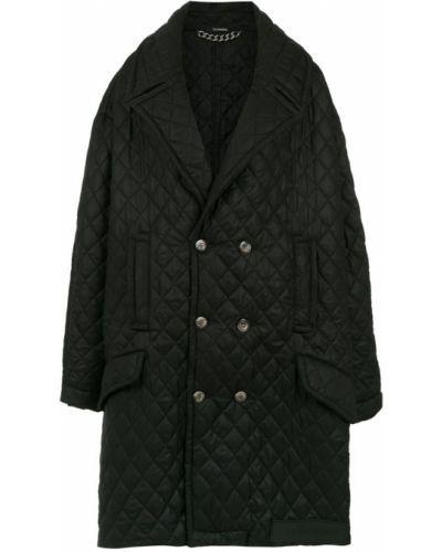 Черное пальто классическое винтажное с лацканами à La Garçonne