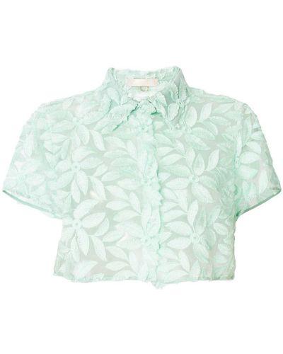 Блузка с поясом мятная Mantu
