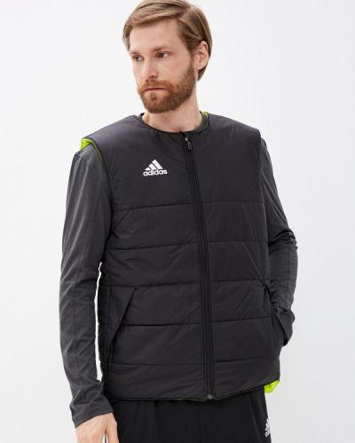Черная утепленная жилетка Adidas