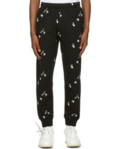 Czarny spodnie z mankietami z kieszeniami Off-white