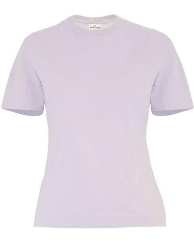 T-shirt - fioletowa Acne Studios