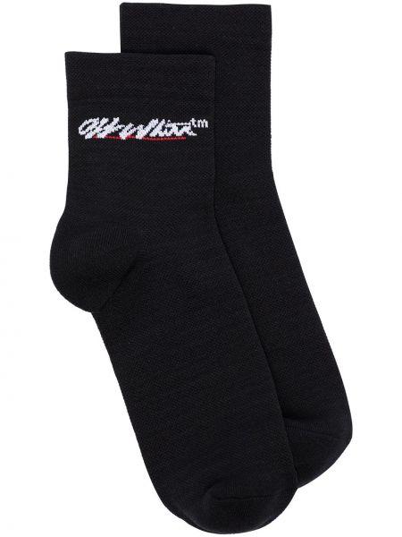 Белые носки жаккардовые Off-white