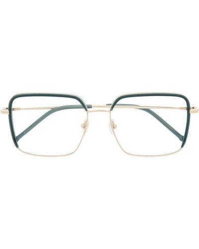 Zielone złote okulary oversize Gigi Studios