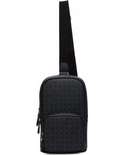 Czarny plecak srebrny Dunhill