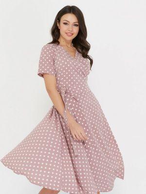 Платье розовое с запахом A.karina