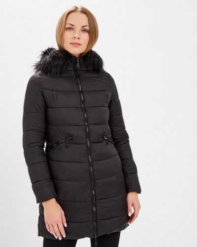 Утепленная куртка демисезонная черная Usha