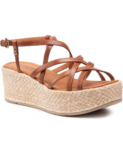 Sandały espadryle - brązowe Pikolinos
